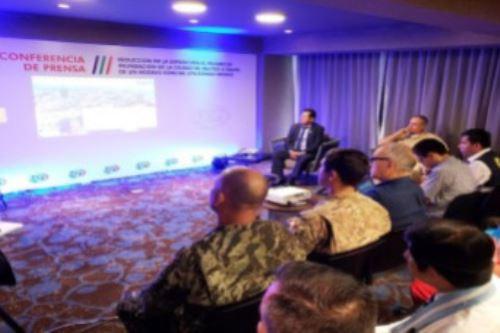 """La UCP presentó el proyecto """"Reducción de la exposición al peligro de inundación de la ciudad de Iquitos a través de un modelo espacial utilizando drones""""."""