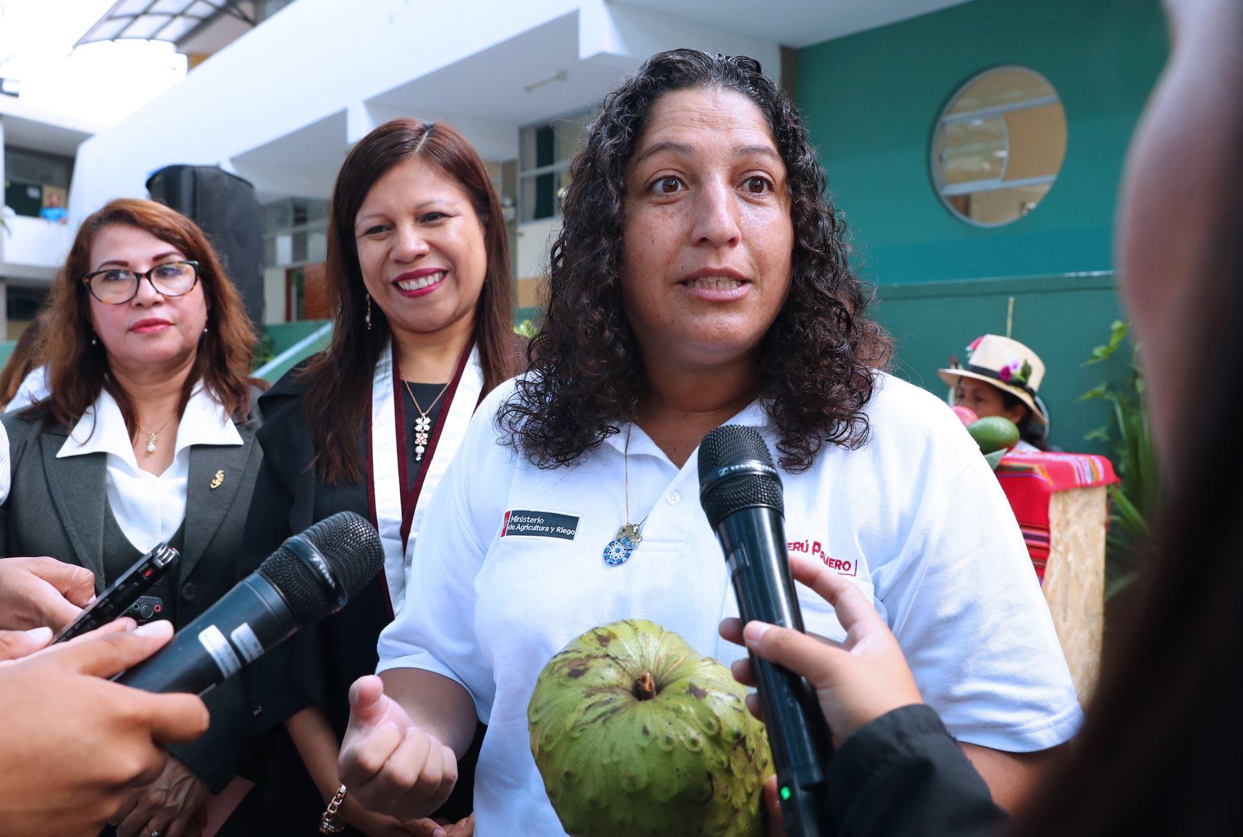 Ministra de Agricultura y Riego, Fabiola Muñoz. ANDINA/Norman Córdova