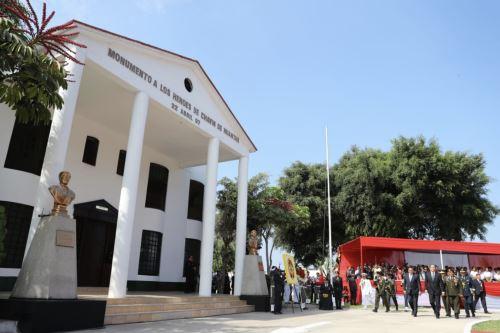 El jefe de Estado, Martín Vizcarra, preside la ceremonia de conmemoración por el XXII Aniversario de la Operación Chavín de Huántar