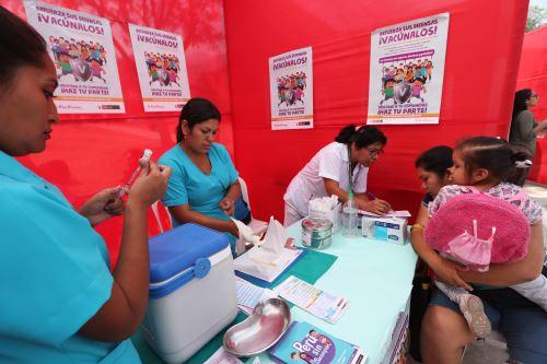 Minsa inicia campaña de Vacunación de las Americas