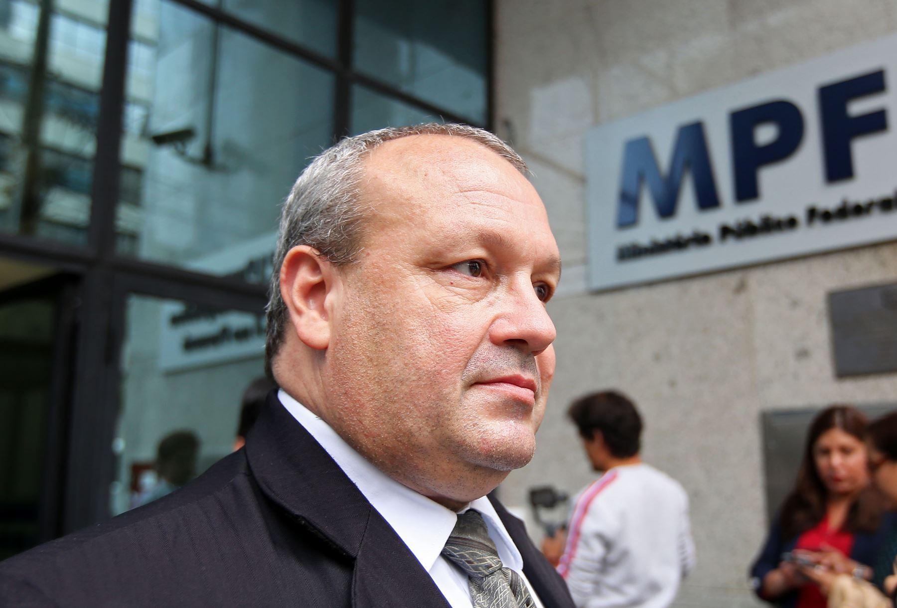 El abogado peruano Nilton Amaral Ferreira, defensor de Santiago Chau. Foto: AFP