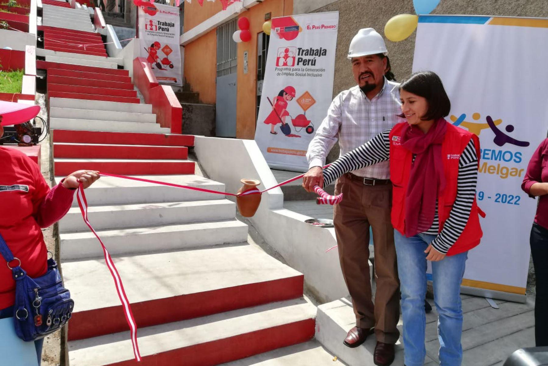 Ministerio de Trabajo invirtió S/ 100,000 en obra urbana en distrito de Mariano Melgar, en Arequipa. ANDINA/Difusión