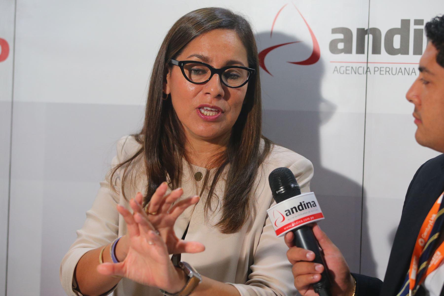 Jefa de la Sunat, Claudia Suárez.Foto:  ANDINA/Vidal Tarqui