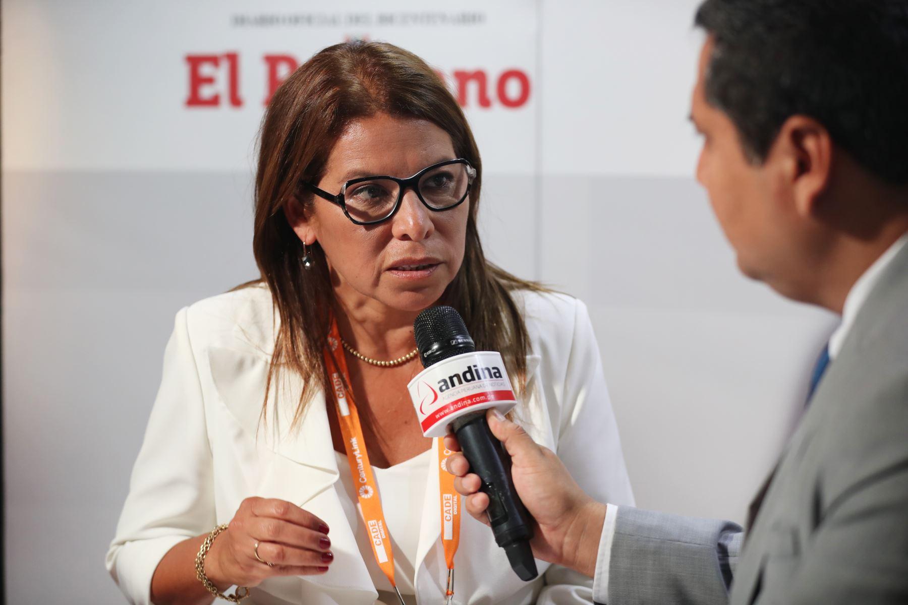 Country manager Perú de Microsoft, Giovanna Cortez. Foto: ANDINA/Melina Mejía