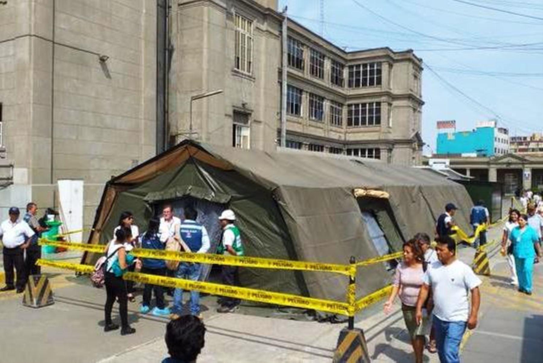 Hospital Loayza inició cirugías en sala de operaciones de campaña. Foto: ANDINA/Difusión.