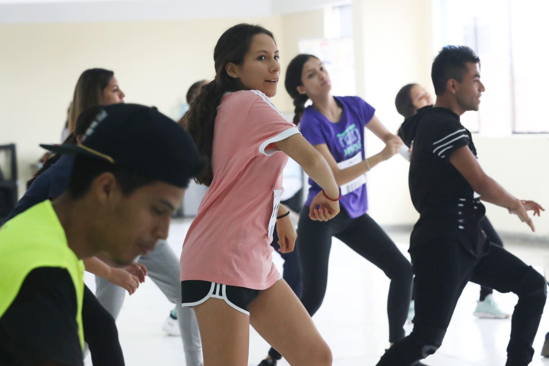 Jóvenes bailarines audicionan para formar parte del show de apertura de los Juegos Panamericanos y Parapanamericanos Lima 2019. Foto: ANDINA/Melina Mejía