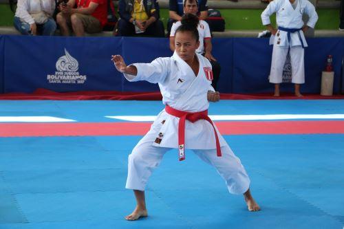 Entrevista a destacada karateca Ingrid Aranda. Foto: IPD.