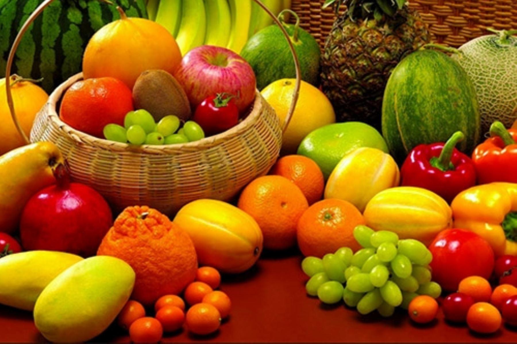 El consumo de frutas y verduras conserva la buena salud.