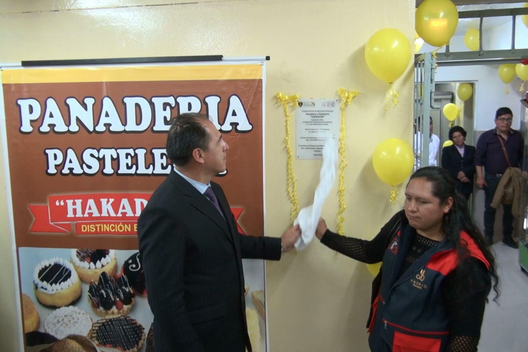 Inpe inaugura panadería en establecimiento penal de Huancayo. ANDINA/Pedro Tinoco