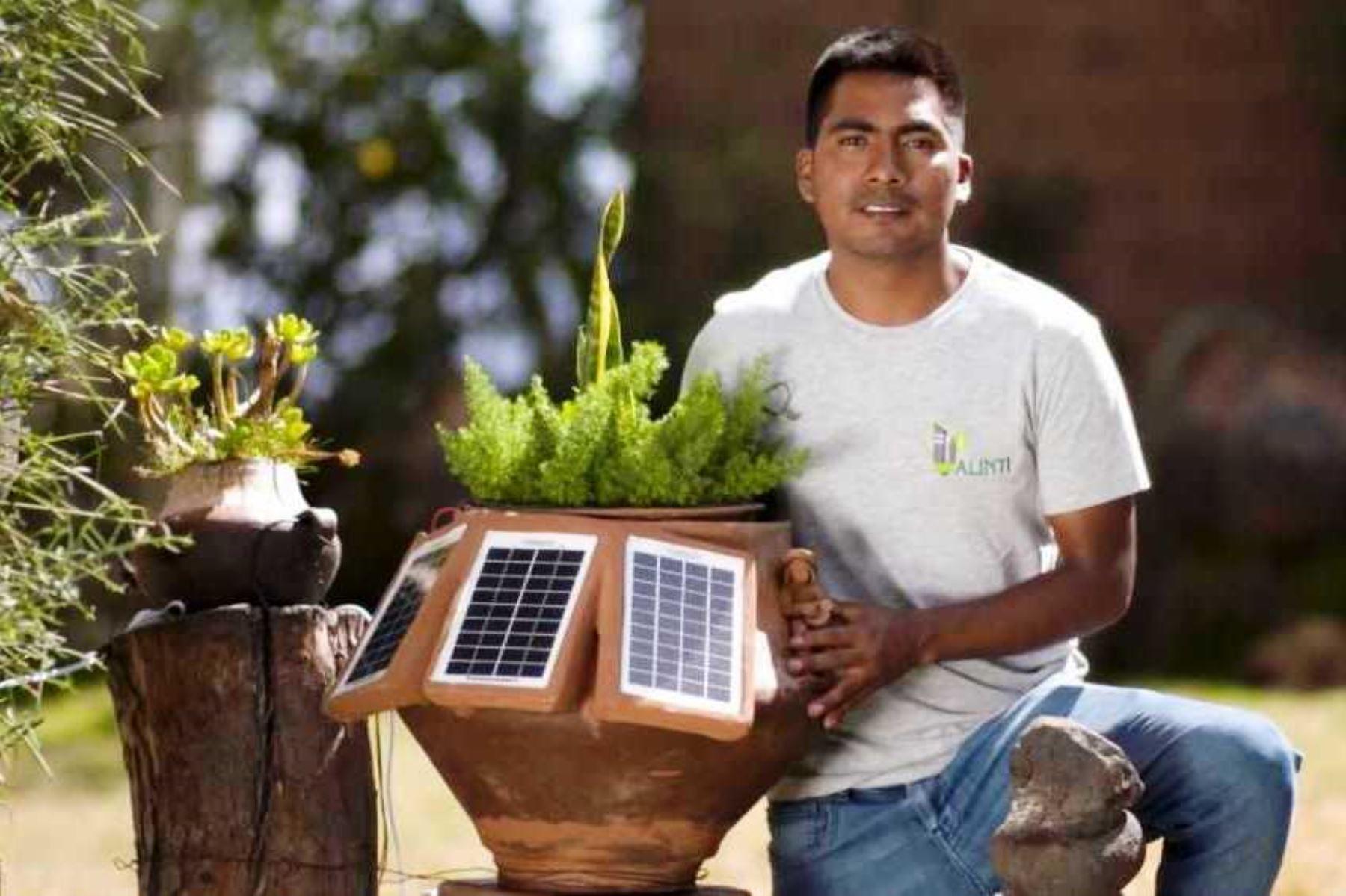 Proyecto Alinti, de Hernán Asto Cabezas, se ubicó entre los tres mejores en concurso internacional de medio ambiente. Foto: ANDINA/Difusión.