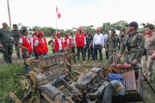 Fuerzas del orden refuerzan control en Reserva Nacional Tambopata en lucha contra la minería ilegal, destaca comitiva ministerial que visitó Madre de Dios.