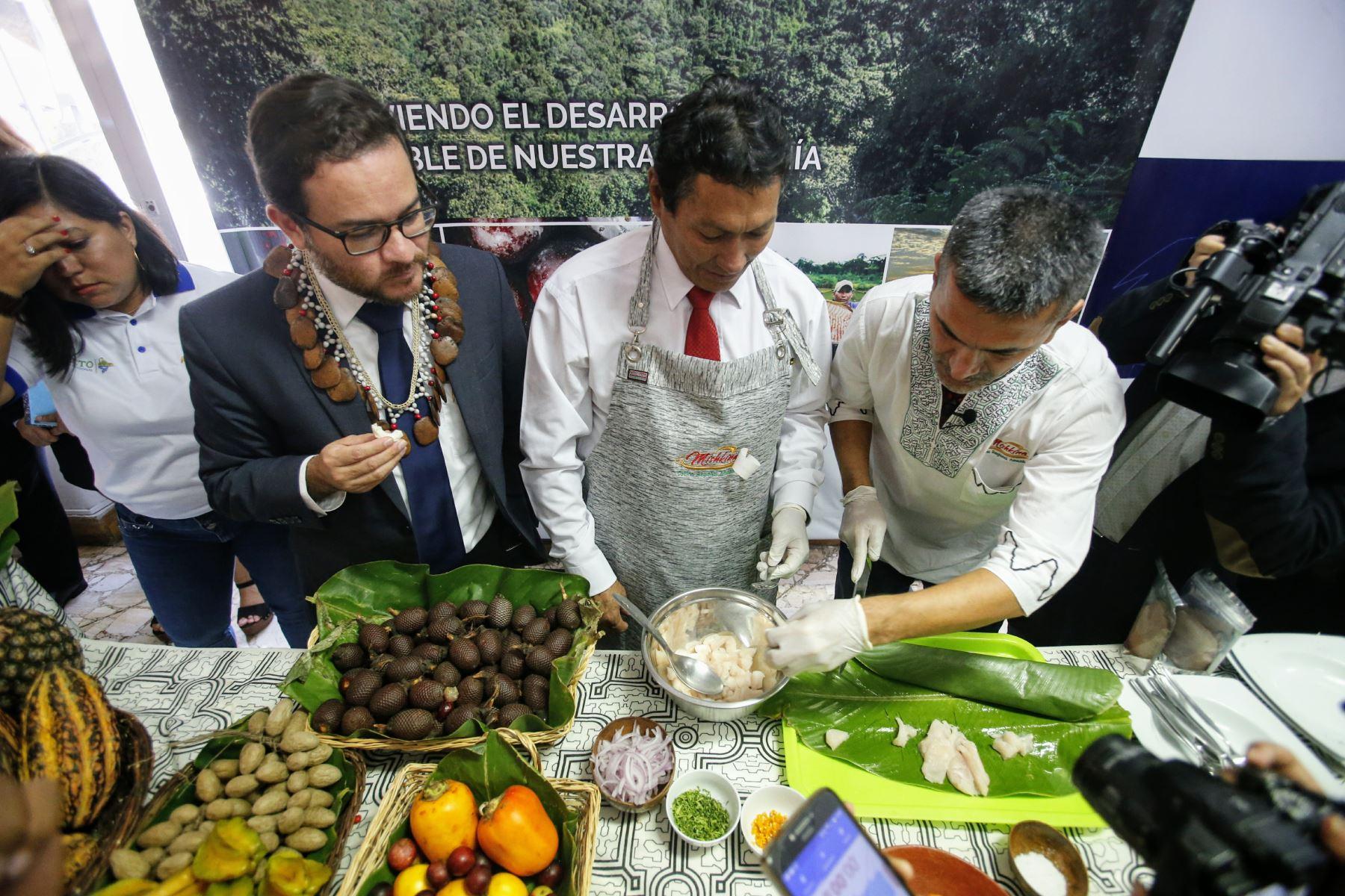 Productos amazónicos atraen el interés de compradores internacionales. ANDINA/Nathalie Sayago