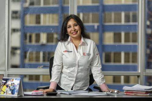 Clara Gálvez Castillo es presidenta ejecutiva de Inacal y en su gestión impulsará el uso masivo de normas técnicas peruanas para asegurar que productos y servicios sean de calidad. ANDINA/Difusión