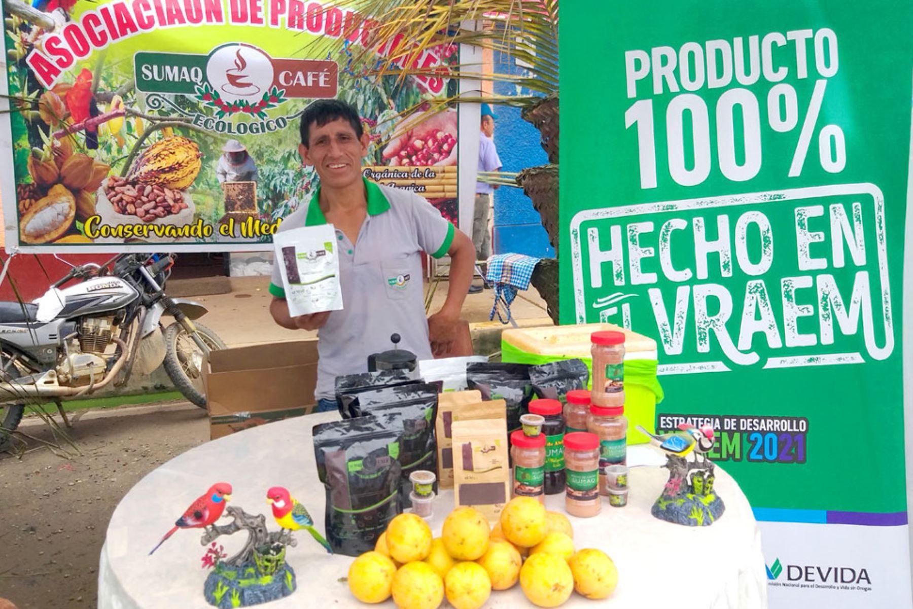 Cafetaleros del Vraem exhiben sus mejores productos en Feria de Café Pangoa 2019: ANDINA/Difusión