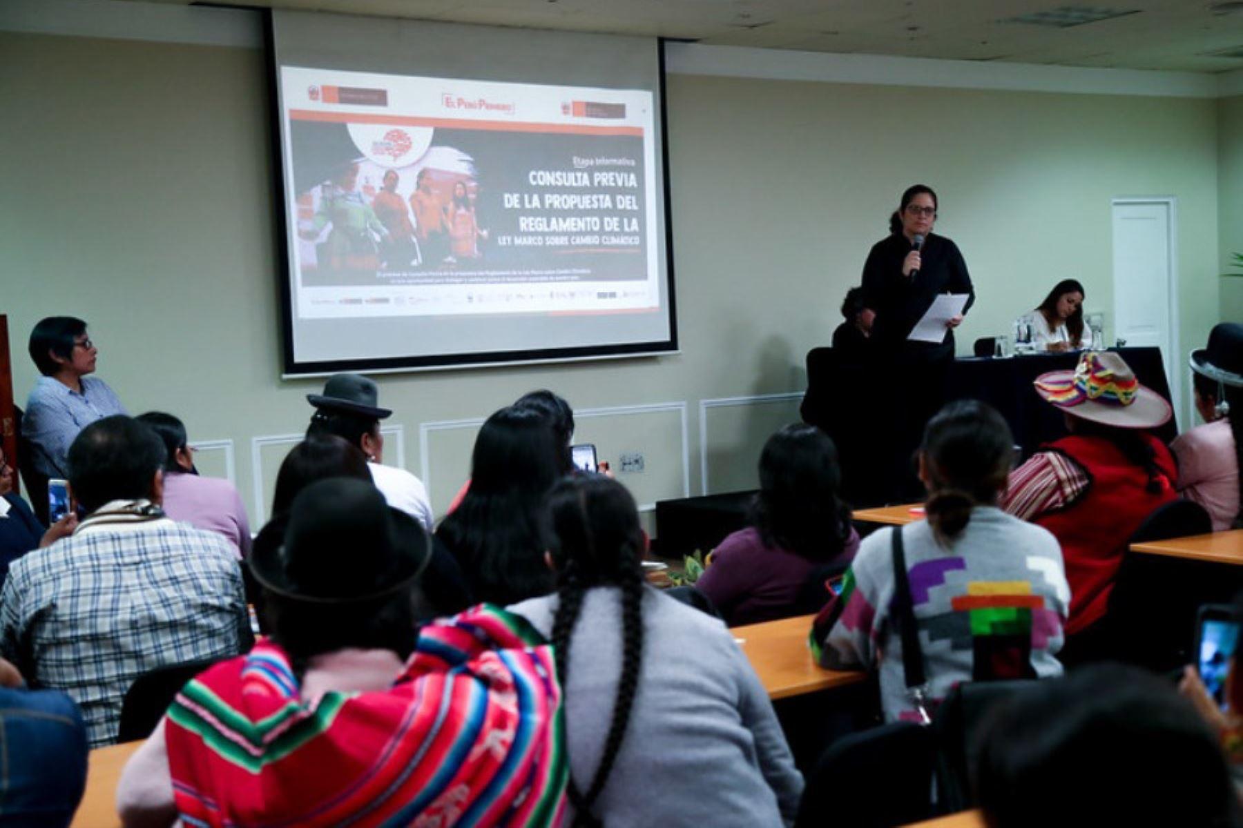 Perú será el primer país del mundo en contar con una Plataforma Climática Indígena, destacó el Ministerio del Ambiente. ANDINA/Difusión