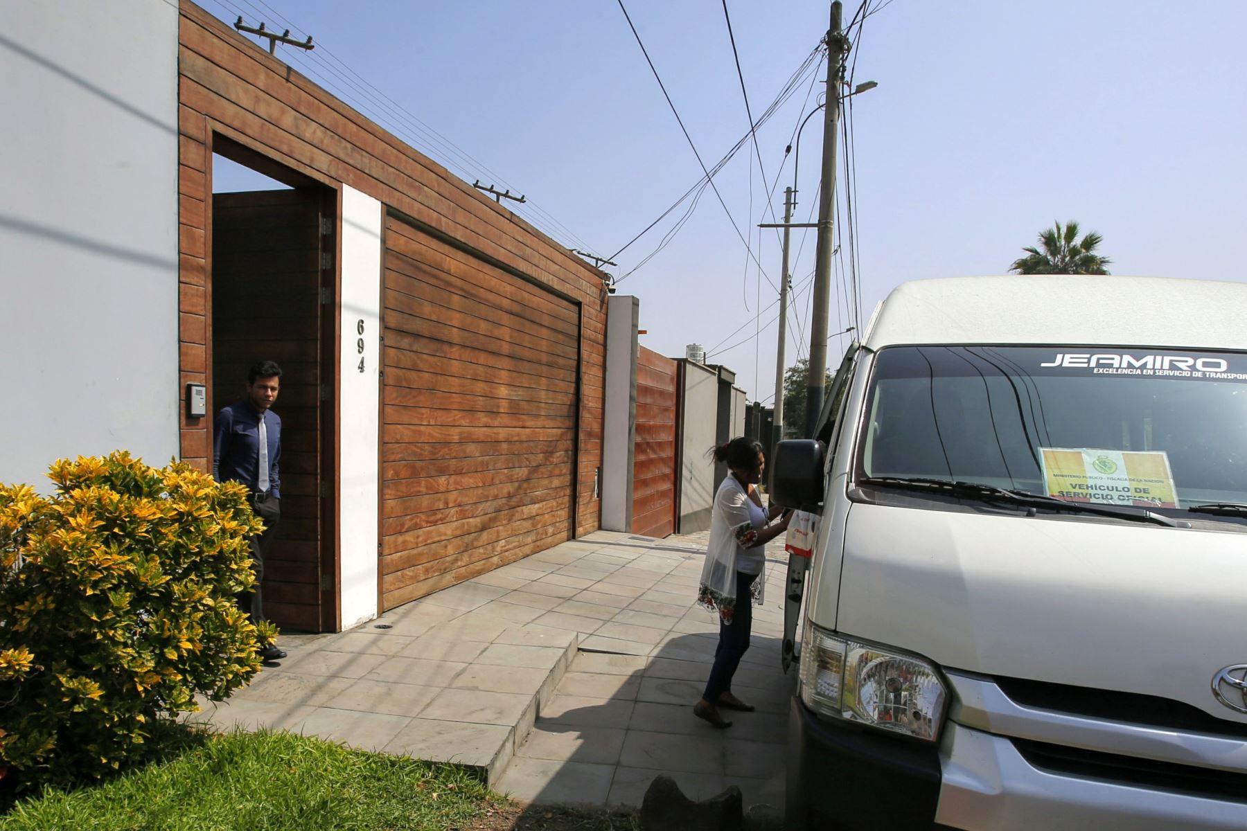 Fiscalía allana vivienda de José Antonio Nava Mendiola. Foto:ANDINA/ Nathalie Sayago