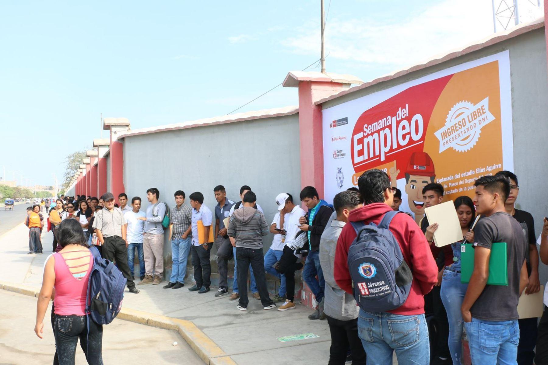 Iniciativas contribuyen con la generación de empleo adecuado. ANDINA/Difusión