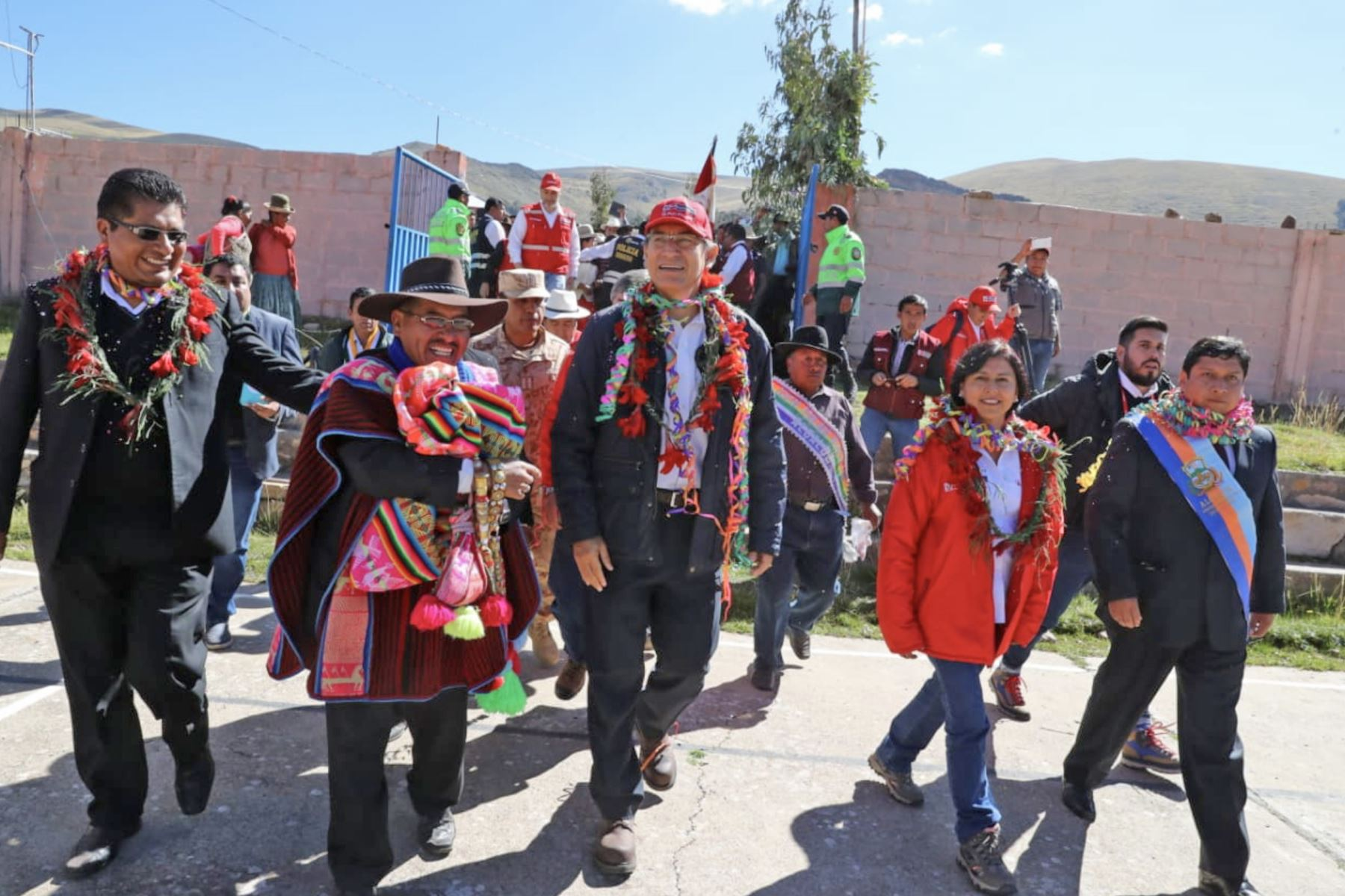 El presidente de la Republica, Martín Vizcarra, encabeza en Puno el lanzamiento del Plan Multisectorial ante Heladas y Friaje 2019. Foto: ANDINA/Difusión