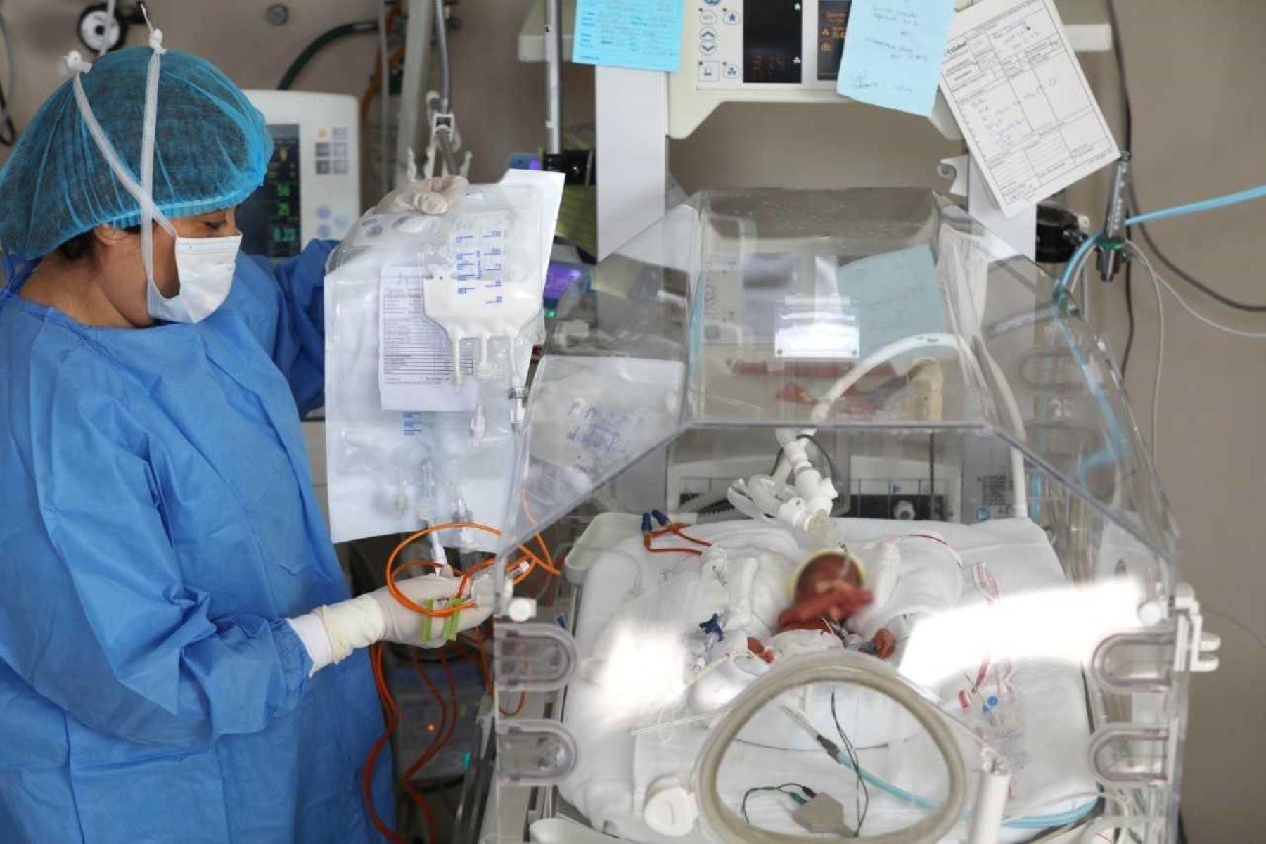 EsSalud aplica novedoso sistema de alimentación intravenosa en recién nacidos. Foto: ANDINA/Difusión.