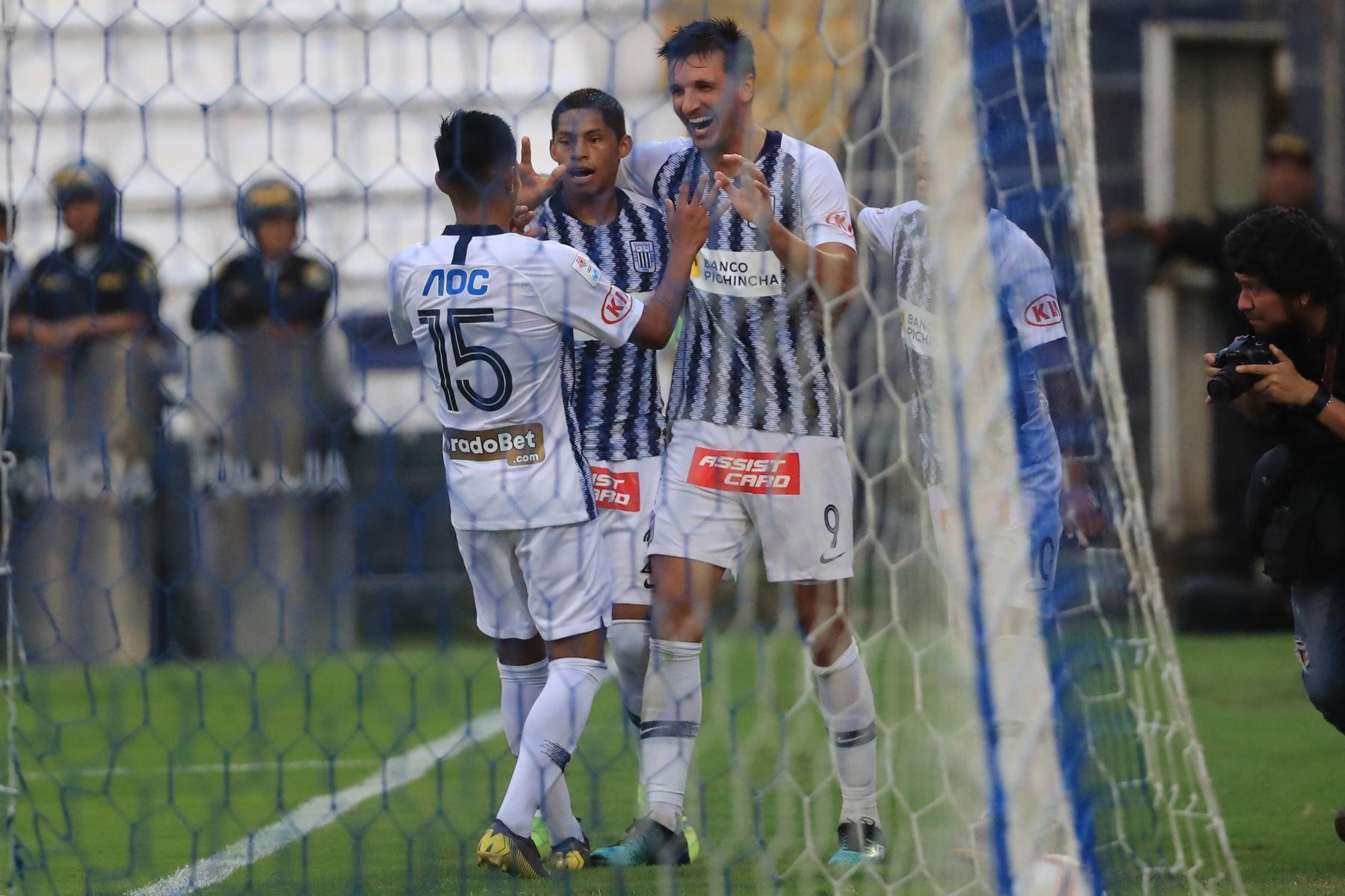 Alianza Lima derrotó al Melgar con gol de Affonso en el último minuto.  Foto: ANDINA/Juan Carlos Guzmán