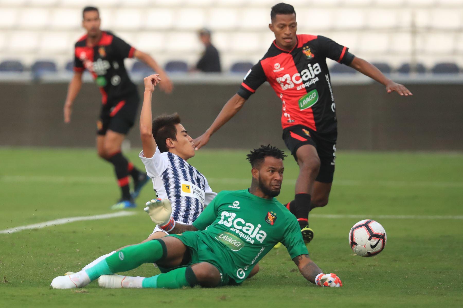 Alianza Lima derrotó al Melgar con gol de Affonso en el último minuto.  Foto: ANDINA/Juan Carlos Guzmán Negrini.