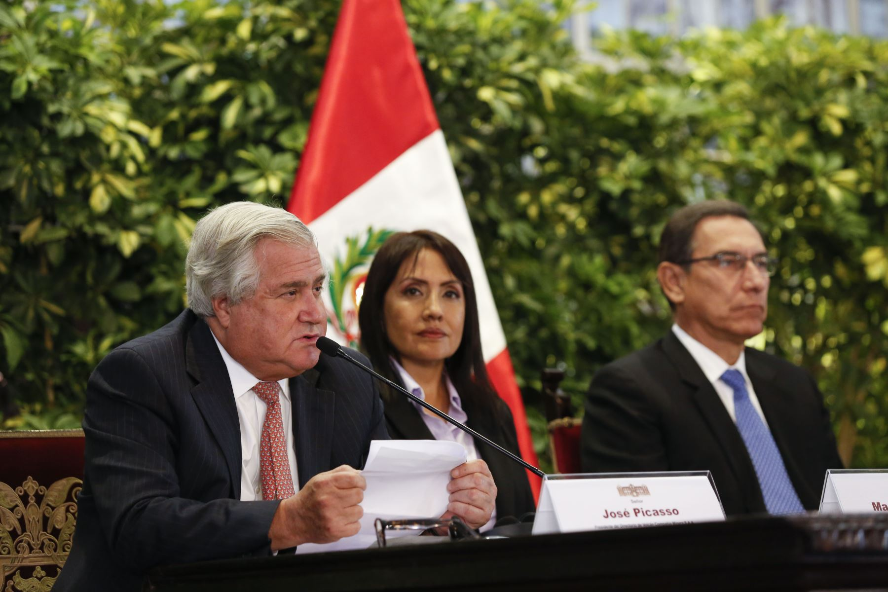 Jefe de Estado preside firma de convenio para la construcción del terminal portuario multipropósito de Chancay. Foto: ANDINA/Prensa Presidencia