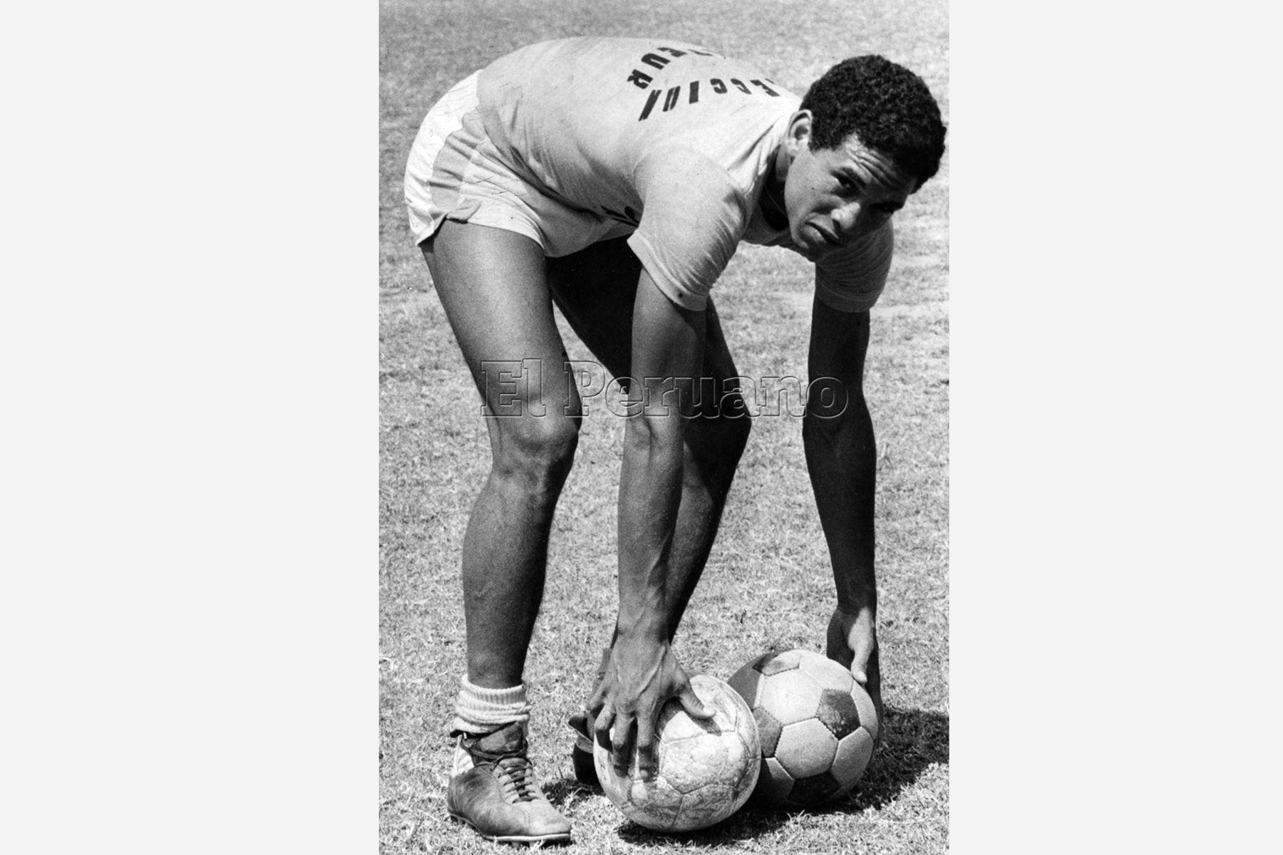 Lima - 18 diciembre 1979 / Samuel Eugenio entrenando. Foto: ANDINA/Archivo diario El Peruano
