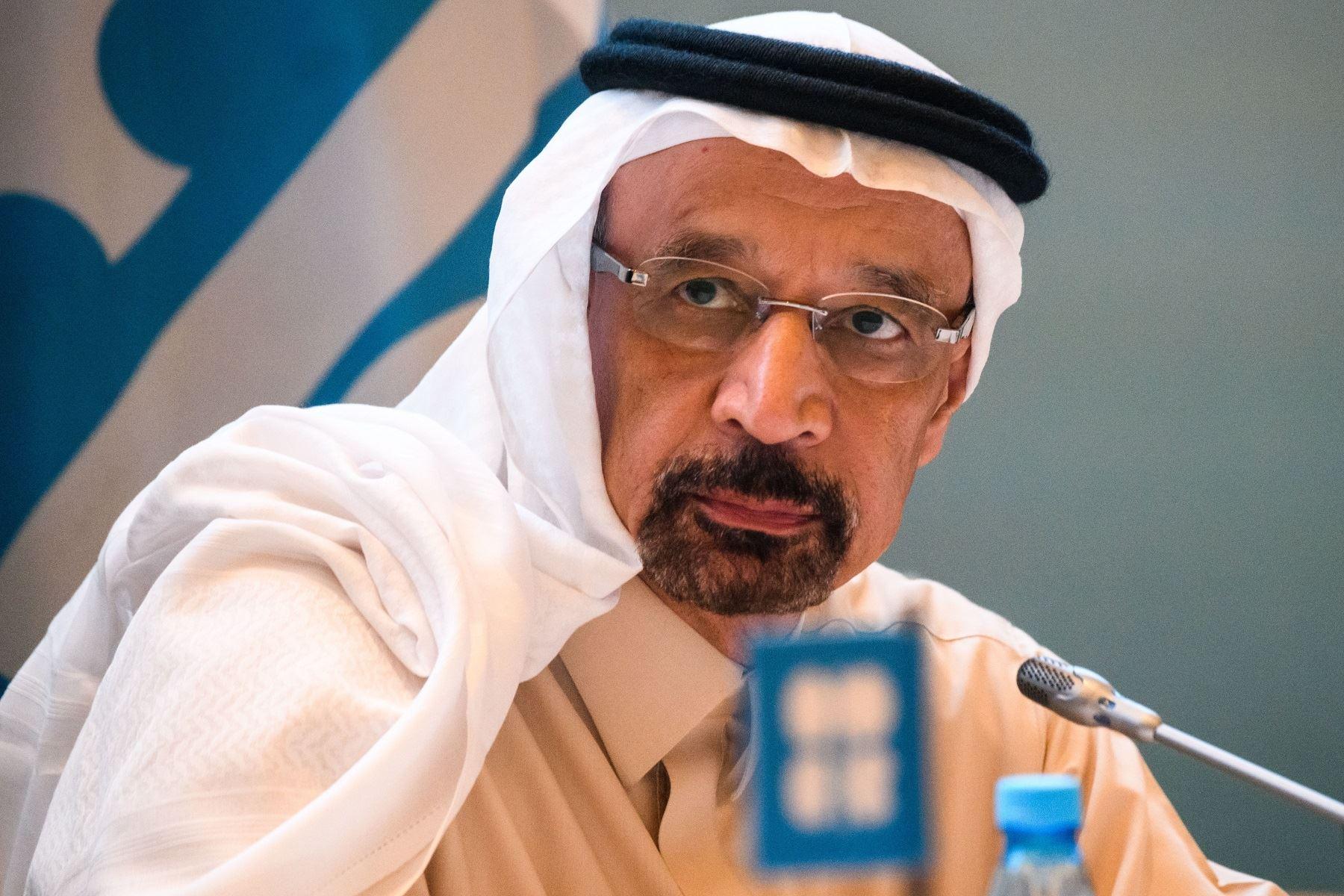 Ministro de Energía de Arabia Saudita, Khalid Al Falih. Foto: AFP.
