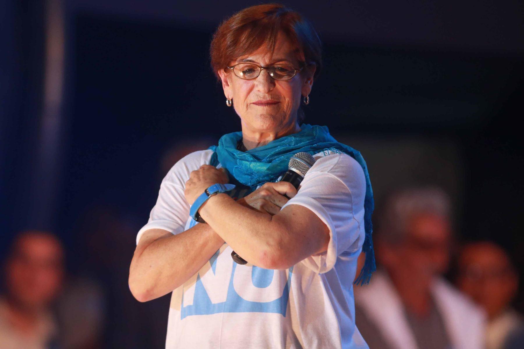 Lima - 14 marzo 2013 / La alcaldesa de Lima, Susana Villarán, encabezó el mitin de cierre de campaña por el NO a la revocatoria.