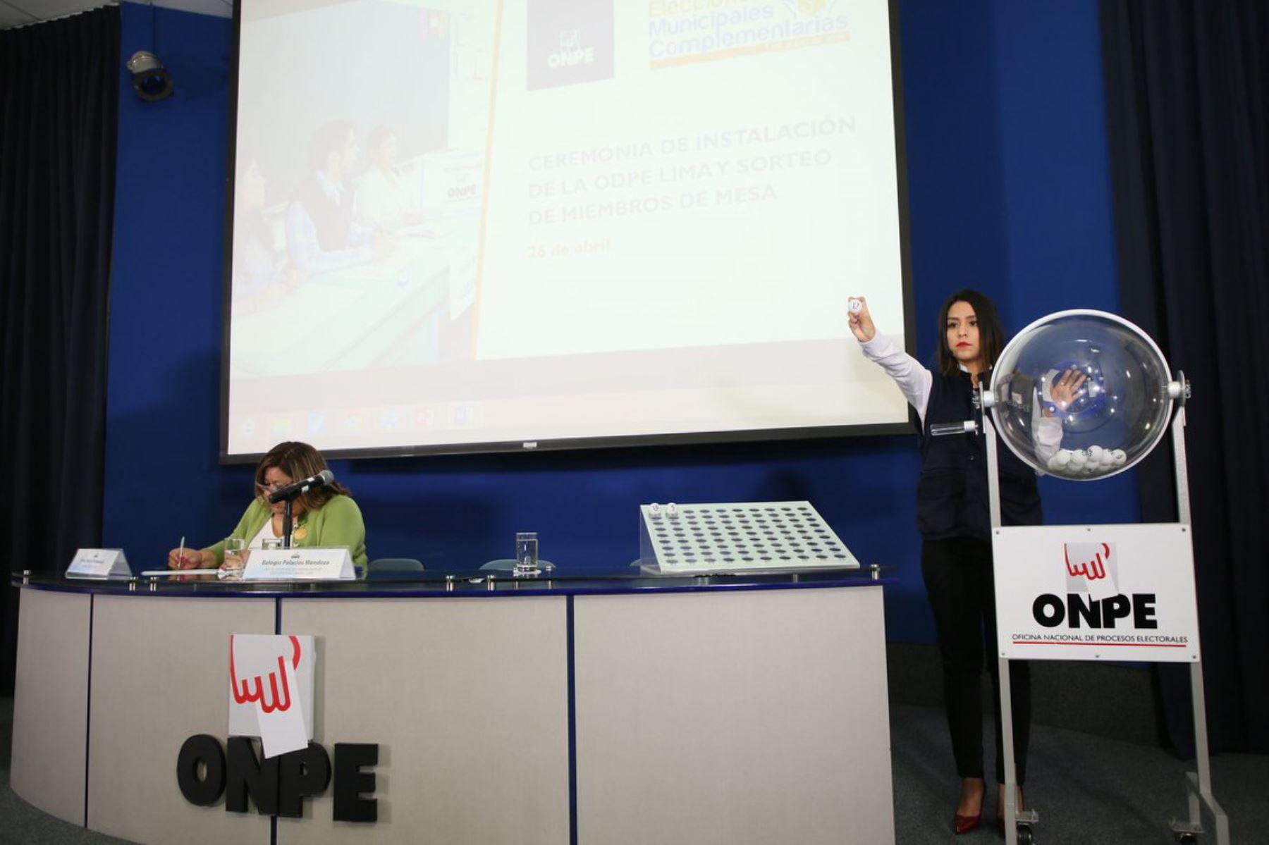 ONPE sortea hoy ubicación de Movimientos Regionales en la cédula de sufragio. ANDINA/Difusión
