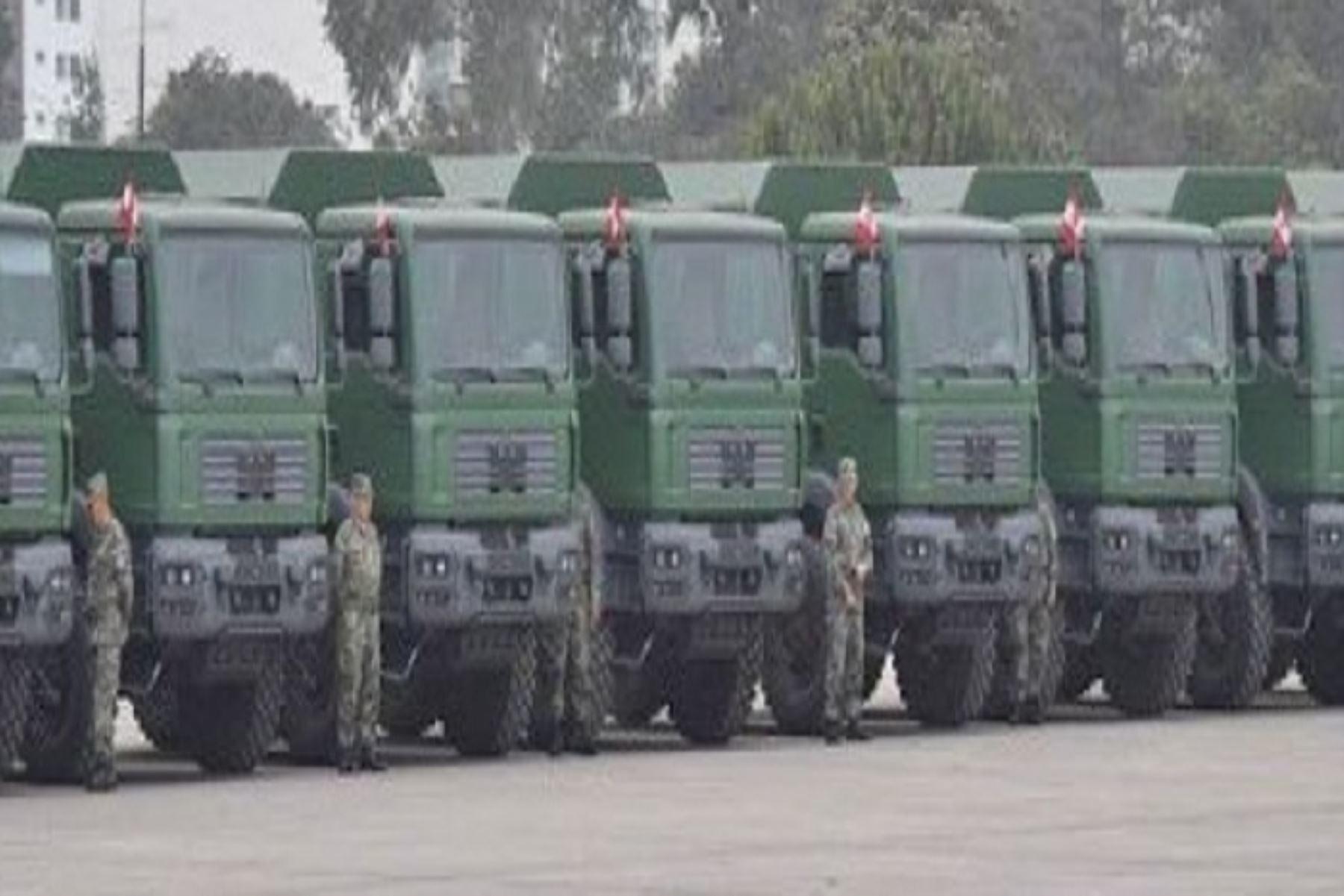 Una nueva flota de vehículos militares MAN del Ejército del Perú se encuentran listos para actuar transportando personal y material de forma inmediata ante la ocurrencia de desastres naturales que puedan presentarse en la región Amazonas y parte de Cajamarca, informó dicha institución.