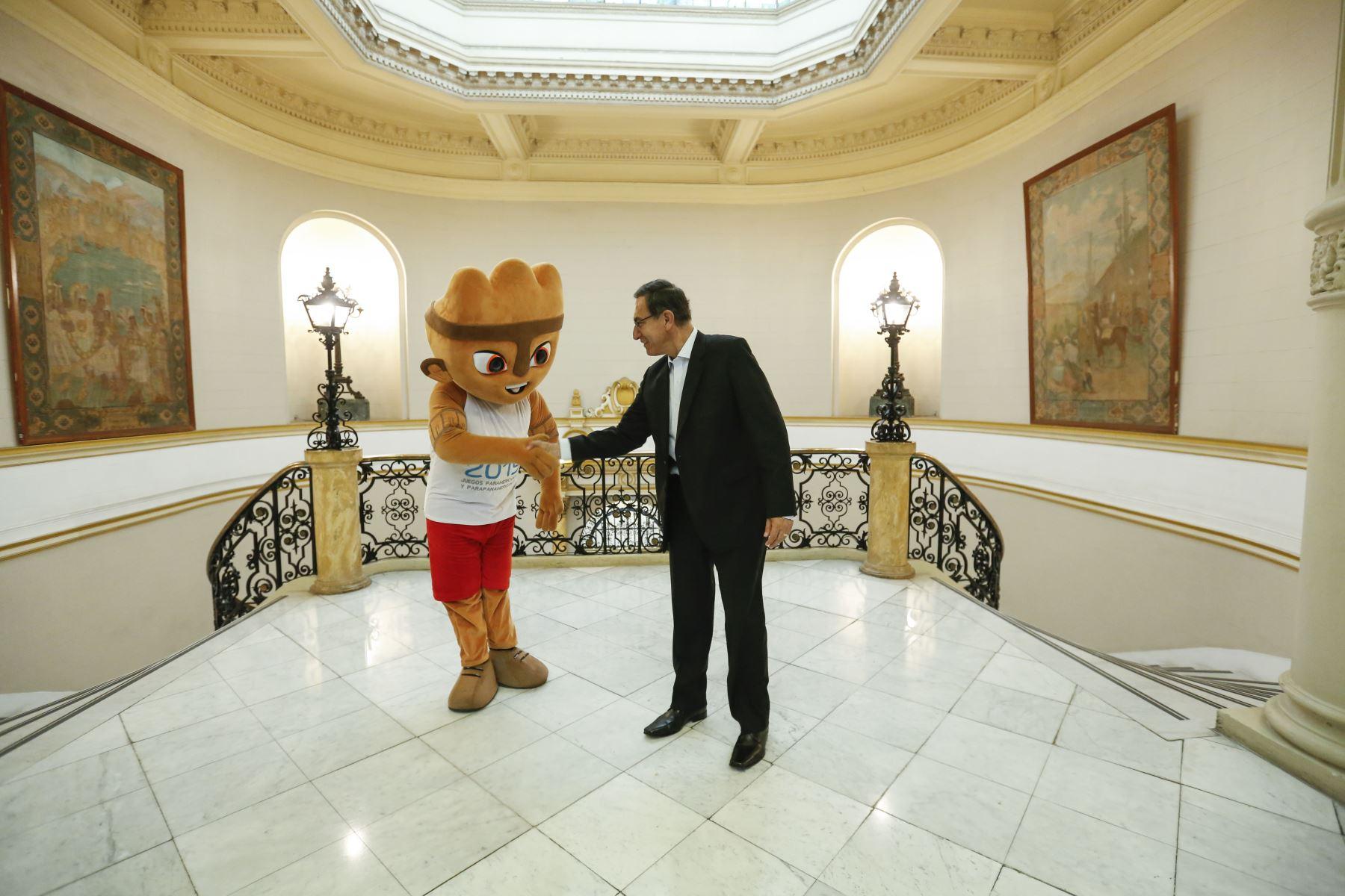 Presidente Vizcarra recibe en Palacio de Gobierno a Milco, en la  recta final rumbo a los Juegos Panamericanos.  Foto: ANDINA/Prensa Presidencia