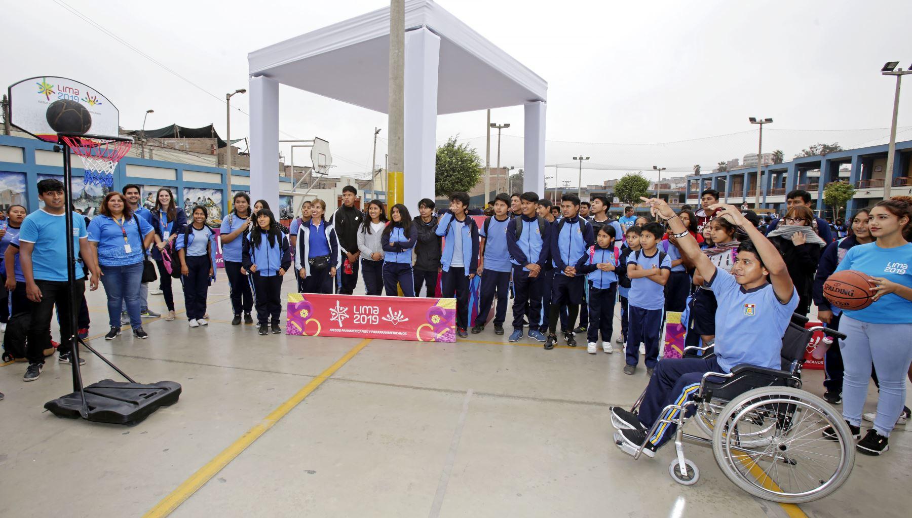 Lima 2019 celebra A 100 días de los Juegos Parapanamericanos en colegio de La Victoria. Foto: ANDINA/Lima 2019
