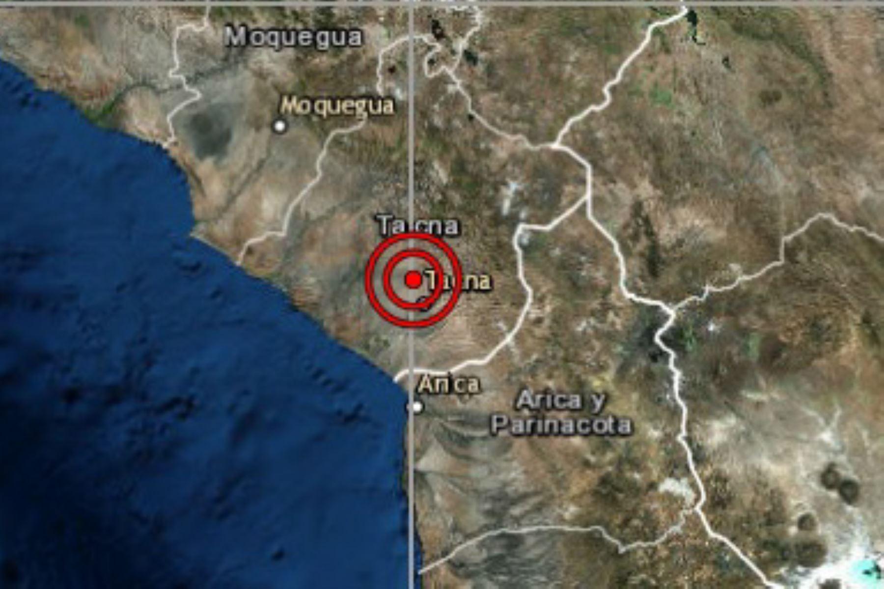 Sismo de moderada intensidad remece distrito de Alto de la Alianza en Tacna