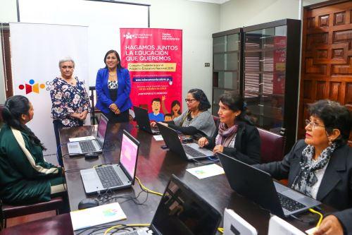 La ministra de Educación, Flor Pablo, participa en la presentación de la Consulta Ciudadana por el Proyecto Educativo Nacional al 2036