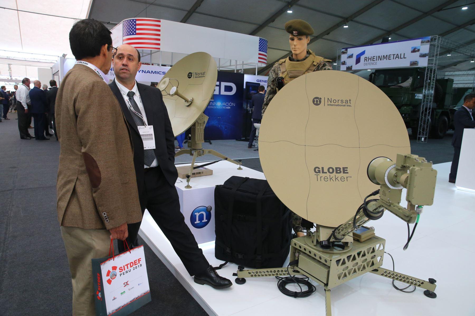 Inauguración del VII Salón Internacional de Tecnología para la Defensa y Prevención de Desastres - SITDEF 2019; evento que muestra la última tecnología de medios militares y ciberseguridad. Foto: ANDINA/Vidal Tarqui
