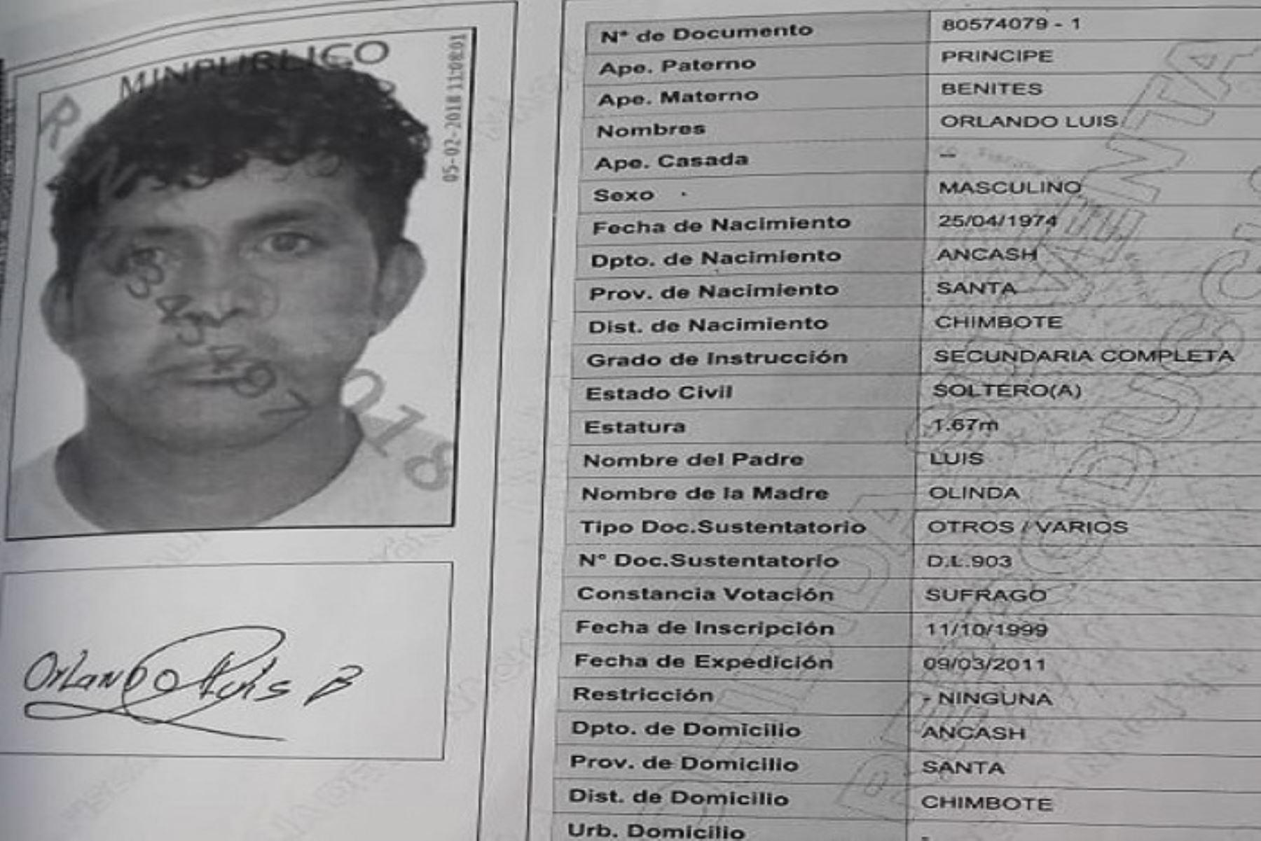 Un sujeto identificado como Orlando Luis Príncipe Benites (44) fue sentenciado a la pena máxima de cadena perpetua, por abusar sexualmente de su hijastro. Los hechos ocurrieron en el asentamiento humano Vista del Mar – San Pedro, en Chimbote, provincia ancashina del Santa.