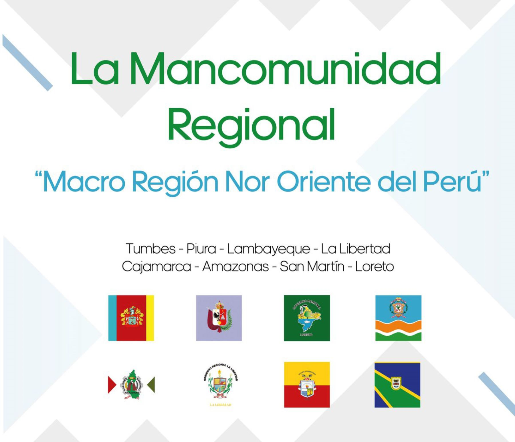 La Mancomunidad Macro Región Nor Oriente del Perú, creada el 20 de noviembre de 2017, está conformada por los gobiernos regionales de Amazonas, Cajamarca, La Libertad, Lambayeque, Loreto, Piura, San Martin y Tumbes