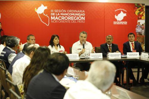Presidente del Consejo de Ministros, Salvador del Solar, se reúne con autoridades de la Mancomunidad Regional Nororiente