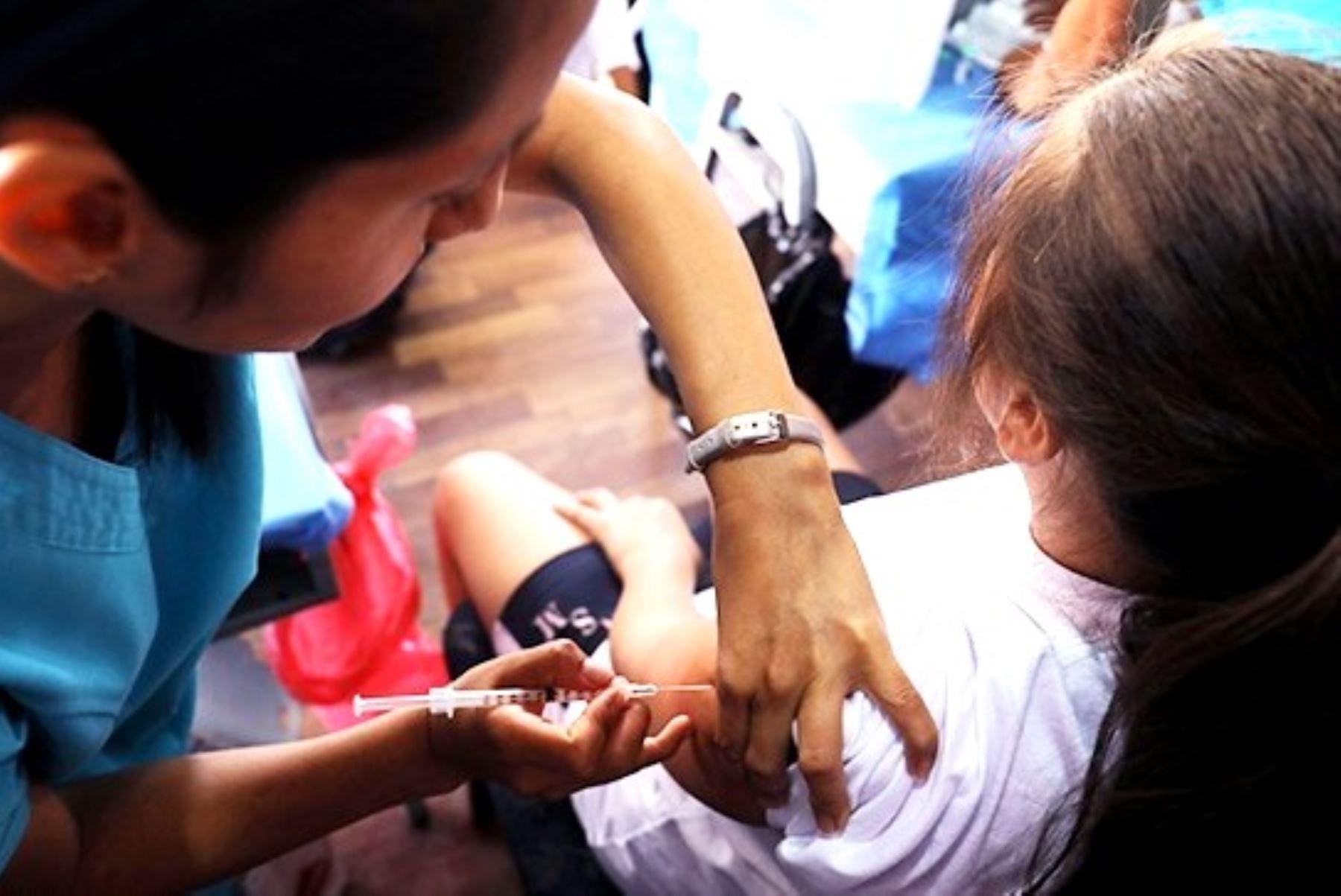 Oficializan Barrido Nacional de Vacunación contra sarampión, rubeola y poliomielitis. Foto: ANDINA/Difusión.