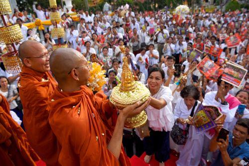 Celebraciones en el día del Buda