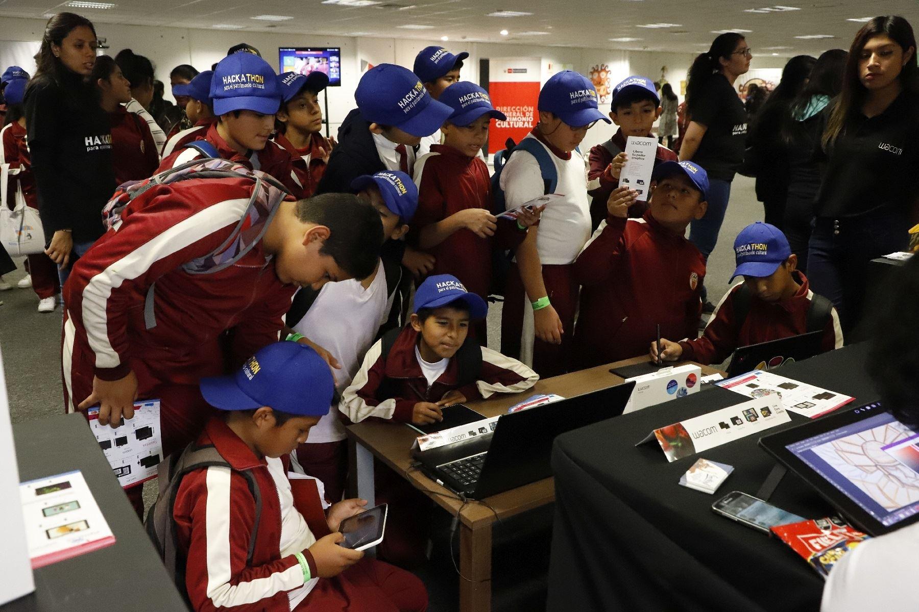 Hackaton kids para el patrimonio cultural organizado por Ministerio de Cultura.