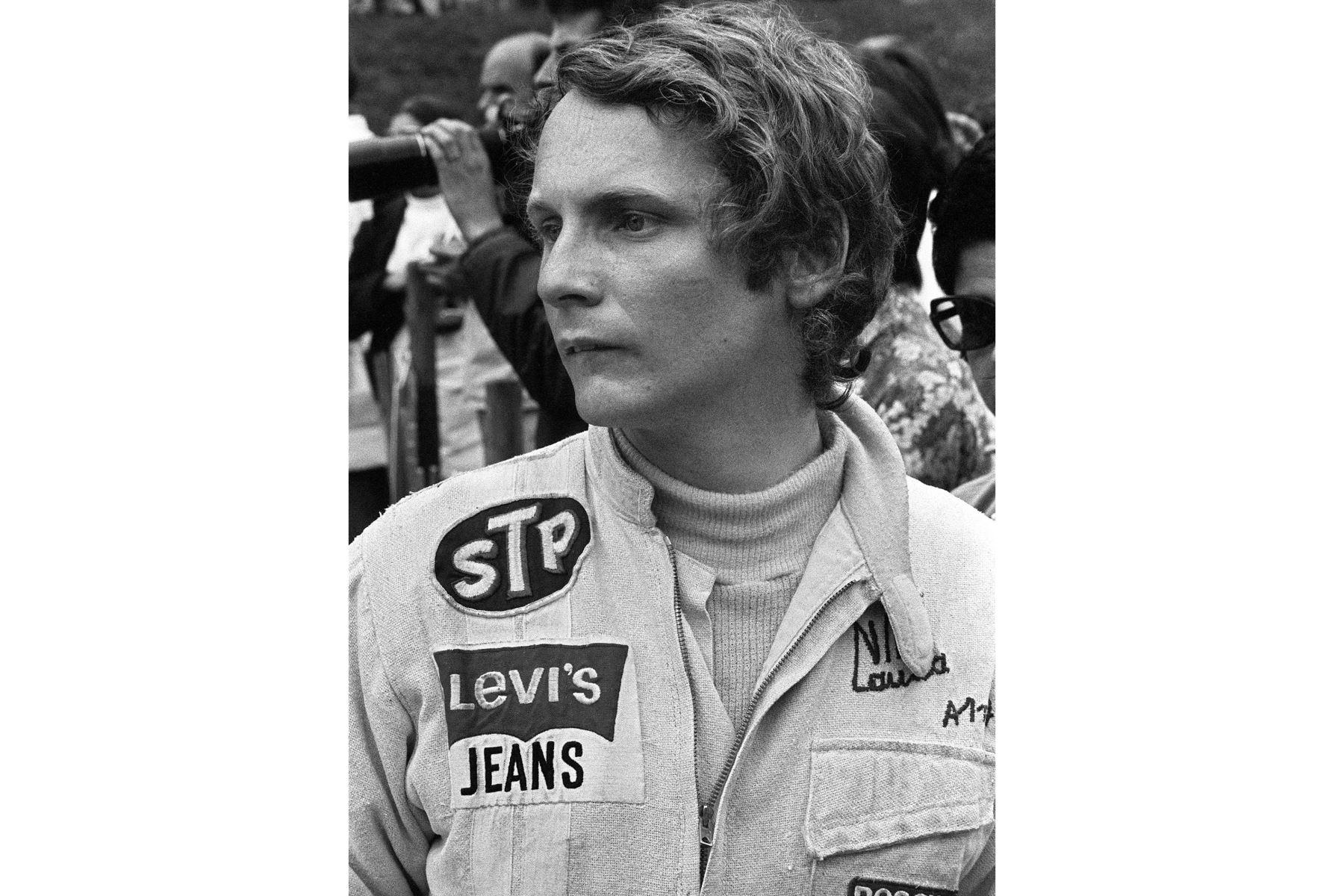 Retrato fechado el 26 de junio de 1972 del conductor de automóviles austriaco Niki Lauda. Foto: AFP