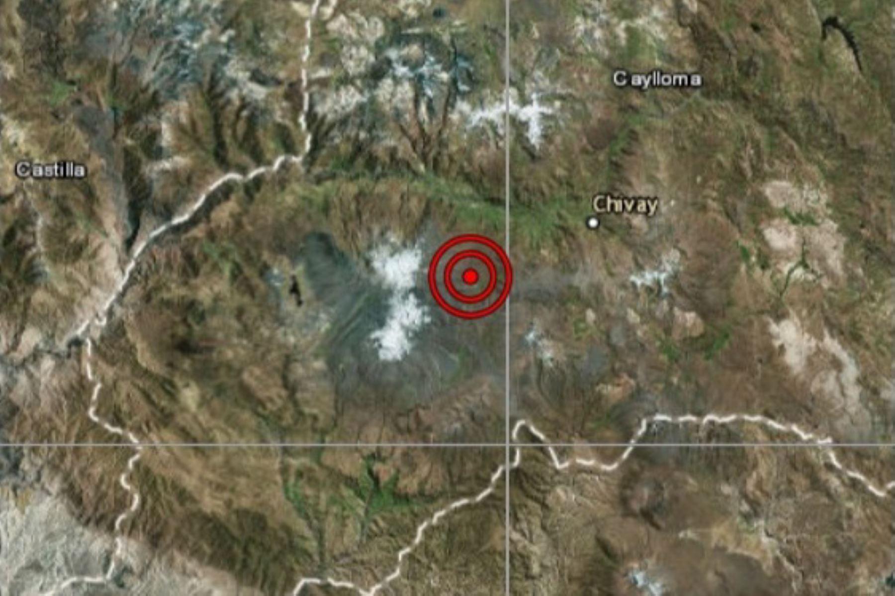 Sismo de magnitud 4.1 afectó a la localidad de Maca, en Arequipa.