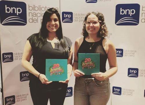 Ximena González y Eliana Carlín, impulsoras del proyecto 20 heroínas peruanas.