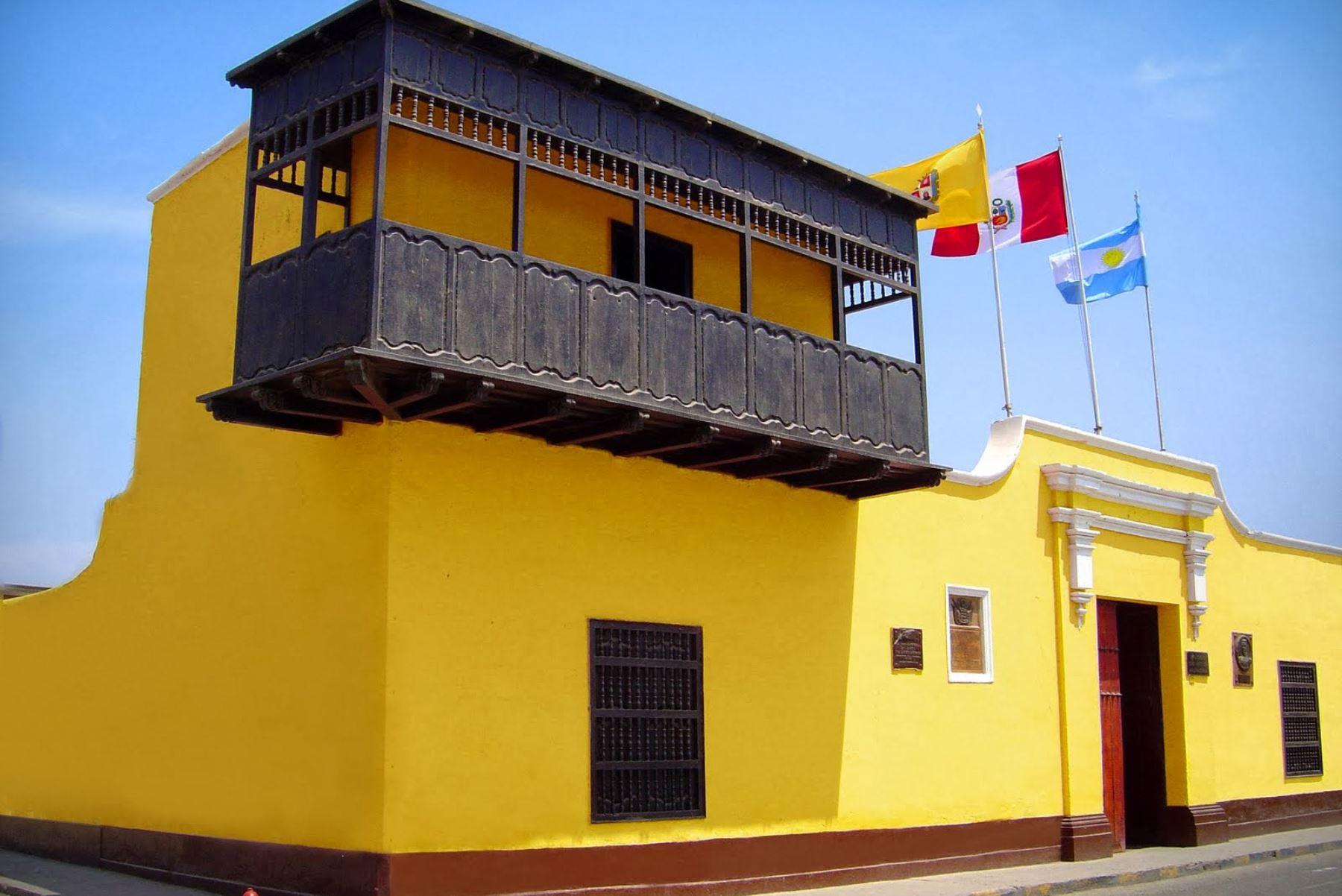 El histórico balcón de Huaura será remodelado por el Bicentenario de la Independencia. Foto: ANDINA/Difusión.