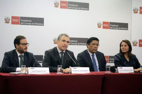 Conferencia de prensa del jefe del Gabinete, Salvador del Solar