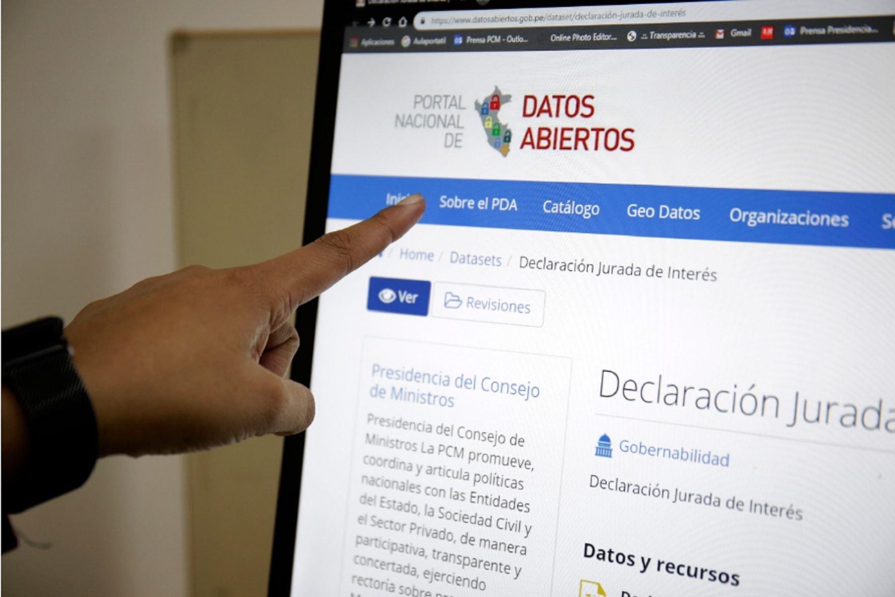 Publican declaraciones juradas de intereses de funcionarios en Portal de Datos Abiertos