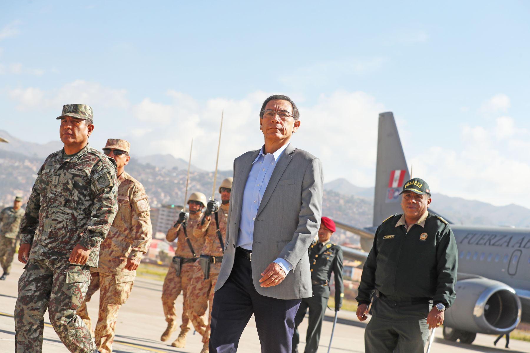 El presidente de la República, Martín Vizcarra, garantizó que el futuro aeropuerto de Chinchero, en el Cusco, será un proyecto de gran nivel internacional y de última tecnología.Foto: ANDINA/Prensa Presidencia