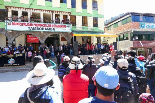 Se instaló comisión multisectorial para el desarrollo de la provincia de Cotabambas y del distrito de Progreso, en Apurímac